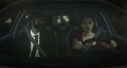 La rupture avec Sam, dans la voiture