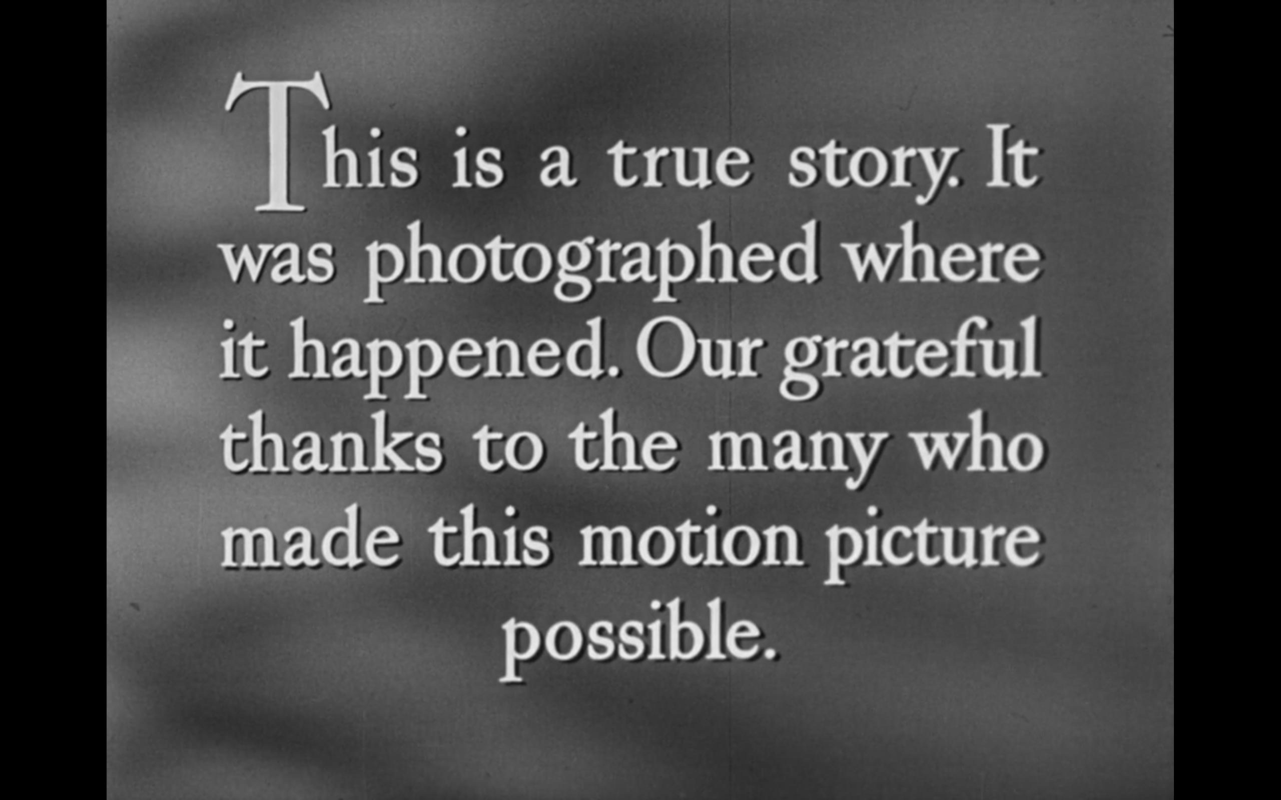 Ouverture de Faire Face (Never Fear), 1950